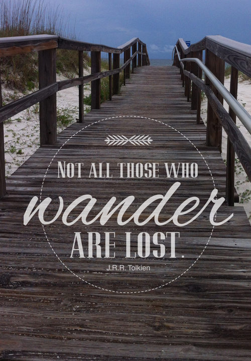 Not all who wander quote