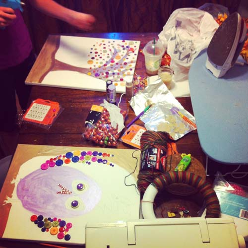 Craft Day Mess