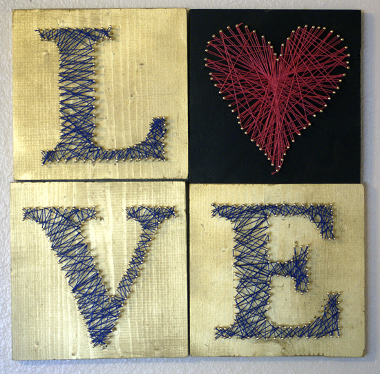 string art love