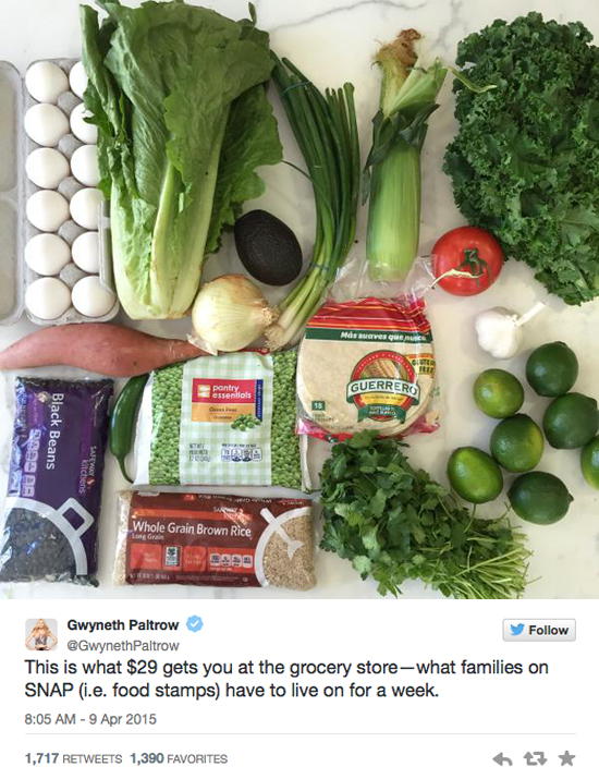 Why Gwyneth Paltrow, and Other Celebrities, Don't Get Hunger in America