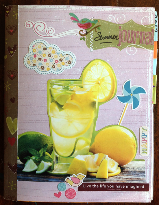 Summer art journal cover