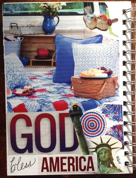 collage journaling