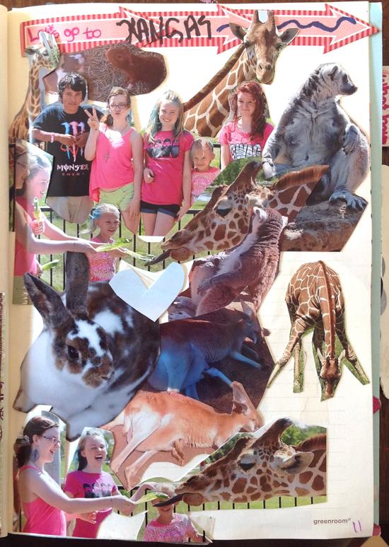 photo journaling collage