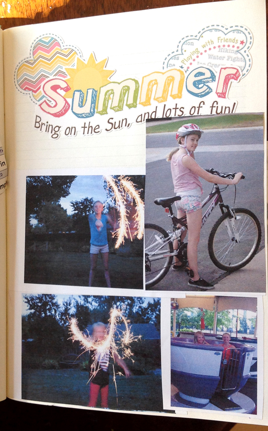 photo collage journaling