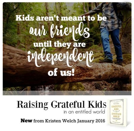 rasing gratefule kids in an entitled world kristin welsh