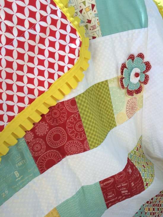 Easy bright quilt
