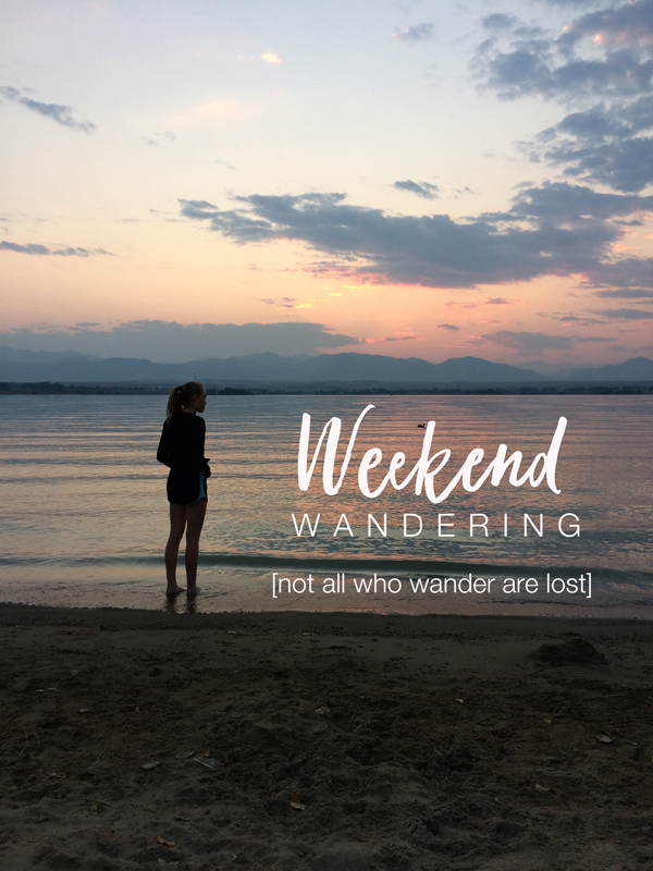 weekend wanderings, get your creative groove back