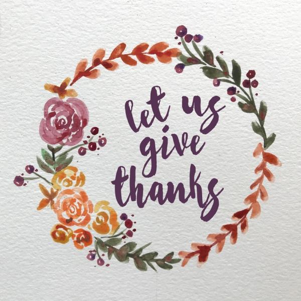 thanksgiving watercolor wreath