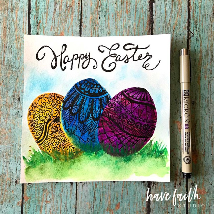 easter watercolor art